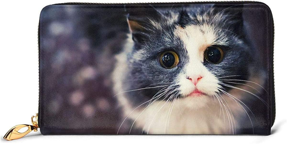So Cute Popular brand Cat Womens Wallet Genuine Ca Wallets Credit Card Bombing new work Leather
