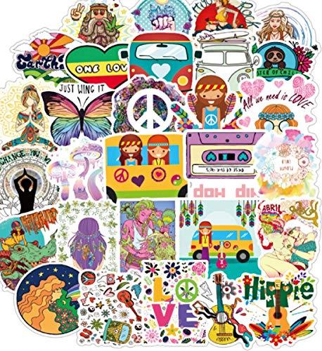 Hippie Hippy Peace One Love Kids - Set di 100 adesivi per...