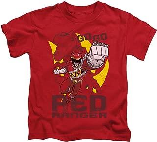 Power Rangers Children's Cartoon TV Series Go Go Red Ranger Little Boys T-Shirt