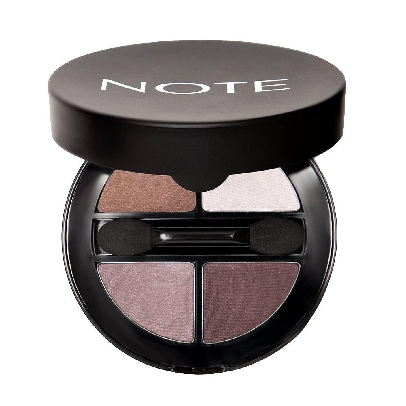 望みベアリングサークル導入するNOTE Cosmetics ルミナスシルククアトロアイシャドウ、1.1オンス 第01