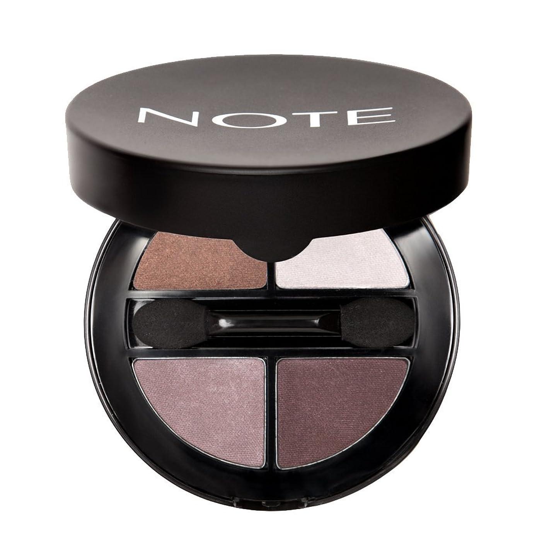 明らかにする五月忠実にNOTE Cosmetics ルミナスシルククアトロアイシャドウ、1.1オンス 第01