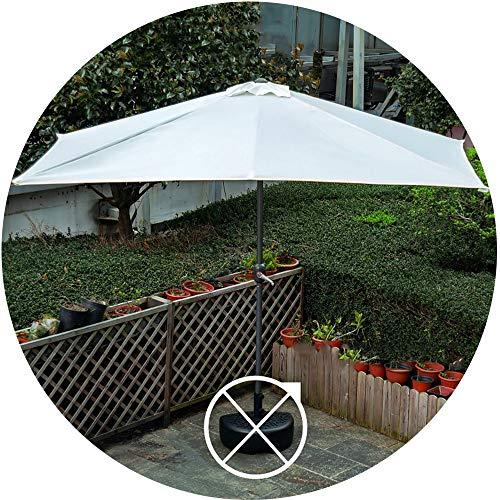 Parasol Halbschirm Gartenschirm, Rechteckiger Sonnenschirm Mit Kurbel Design, 38mm Metall Marktschirm Balkonschirm Kann Gefaltet Werden