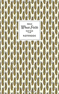 Wheat Fields Notebook - Ruled Pages - 5x8 - Premium: (Golden Edition) Fun notebook 96 ruled/lined pages (5x8 inches / 12.7...