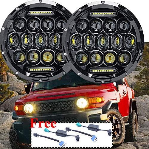 Pair 7 Inch Round LED Headlights For Toyota FJ Cruiser 2007-2014/Kenworth T2000 T-2000 1998-2010, Sealed Beam Bright Car/Truck Lighting Conversion Kit H6024 High-Low Beam DRL Lights -  ZhanGe Factory