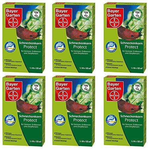 6 x 750 g Bayer Schneckenkorn Protect Schneckenmittel