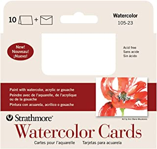 Strathmore 105-23-1 Watercolor Cards, Cold Press, 3.5