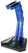 SADES E-Sports Gaming Headphone Cradle, Acrylic Headphone Bracket Stand, Head-mounted Display Rack Headset Hanger Holder For Gamers (Blue)
