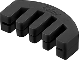 Eastar EAC-002A 4/4 Violin Practice Mute Full Size Rubber, Black