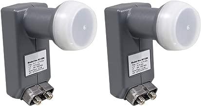 DMS International DSS922 DSS Dual LNBF for Anik F3 118.7 & 119 Satellite Dish (2 Pack)