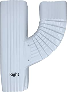 Aquabarrel V Downspout Funnel Brings 2 Gutter downspouts into 1 (2x3 Right, White)