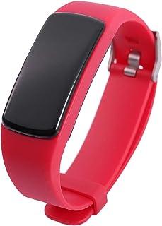 Facibom Y9 Smart Activity Tracker Band Fitness Pulsera Monitor de ritmo cardíaco Pulseras de presión arterial para Smartphone Smartband (rojo)