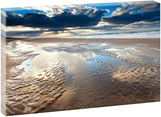 Nordsee Dünen Kunstdruck Bild Foto Leinwand Poster Wandbild XXL 80 cm*40 cm 670