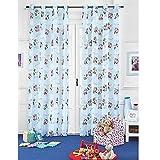 NADA HOME Cortina Mickey Mouse Disney Velo Original Idea De Regalo Dormitorio Niño Espárragos - Azul Cielo,