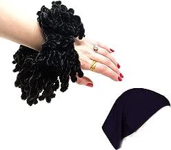 Hijab Volumizer Scrunchie and Underscarf Hijab Cap Bonnet Set - Black Volumizing Khaleeji Accessories for scarf