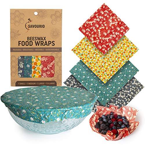 SAVOURIO - Reusable Beeswax Food Packaging - Ecological, Organic, Biodegradable, Beeswax Towel