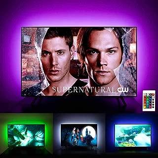 EPPIEBASIC TV Bias Lighting - LED TV Backlight Kit - USB LED Light Strip for 32 to 60 Inch HDTV with Remote, RGB Multi Color Ambient Light Behind TV