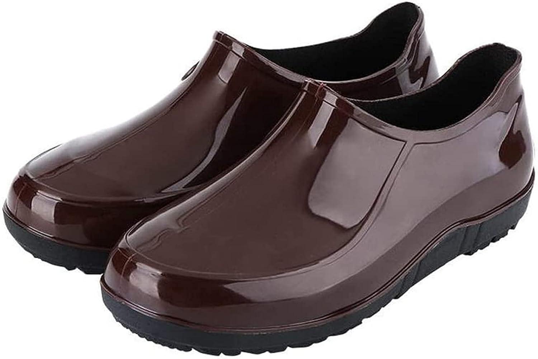 YUESFZ rain Boots Men's Low-top Tube Rain San Francisco Mall Fashion Max 71% OFF Sho Work
