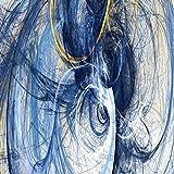 Cartel e impresión Mural Arte Pintura al óleo sobre lienzo Sala de estar Decoración Abstracta Creativa Línea azul 40x80cm
