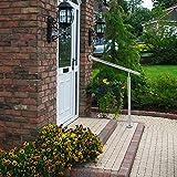 CO-Z 80x90cm Barandilla de Escaleras para Interior y Exterior Barandilla de Acero Inoxidable con Accesorios de Pared y Tacos de Metal Pasamanos de Escalera para Piscina, Jardín y Casa (80X90CM)