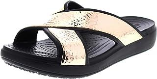 Crocs Sloane Hammered Xstrp Slide Women Noir/Rose Dore Croslite