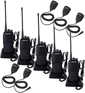 Retevis RT1 Professional Walkie Talkies Long Range UHF High Power Emergency Alert Encryption Two Way Radio Long Range with Earpiece and Mic(5 Pack)