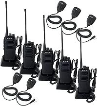 Retevis RT1 Professional Walkie Talkies Long Range UHF High Power Emergency Alert Encryption Two Way Radio Long Range with Earpiece and Mic(5 Pack)