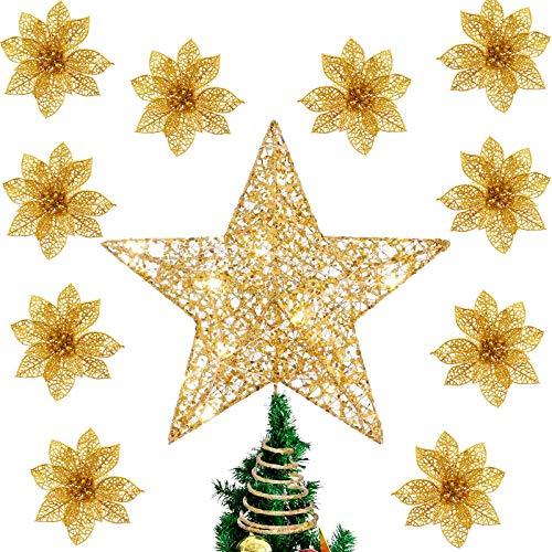 Flores Para Navidad Tela flores para navidad  Marca Daohexi