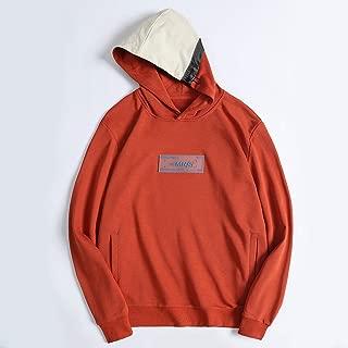 Men's Long Sleeve Sweater Kangaroo Pocket T-Shirt Loose Hoodie Sports Casual Cotton Fleece Sweater