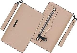 Regan Universal iPhone Plus Leather Wristlet Wallet, Nude