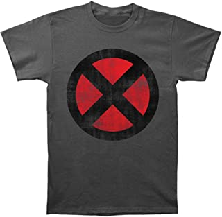 Marvel X-Men Distressed Symbol Grey 30 Single T-Shirt