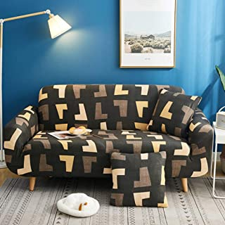 YIBP STORE Slipcover Furniture Cover, All Cover Stretch Sofa Slipcover, Printing Couch Cover, Fabric 1 Piece Furniture Protector for Living Room Pets-n Love Seats