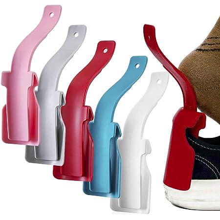Bascar Schuhanzieher Lazy Shoe Helper Tragbarer Kunststoff Kurz Schuhl/öffel Flexible L/öffelform Schuhlift Schuh Hebehilfe f/ür Herren Damen Kinder Senioren L