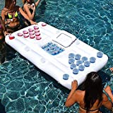 YX-ZD Inflatable Beer Table,Portable Party Swimming Pool Inflatable Beer Table Tennis Floating Pool Table,...