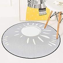 Round Warm Rugs Bedroom Living Room Sofa Carpet Coral Fleece Children Crawling Game Pad 60-180Cm,2,60 * 60cm