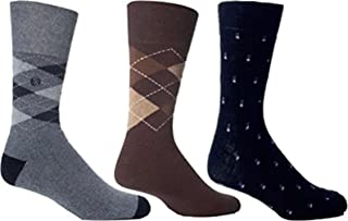 3 Pairs Mens Gentle Grip HoneyCombe Top Non Elastic Socks by Drew Brady/Various Colour Designs to Choose From/UK Sizes 6-1...