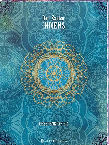Der Zauber Indiens Geschenkpapier-Heft - Motiv Blaue Träume: 2 x 5 Bögen