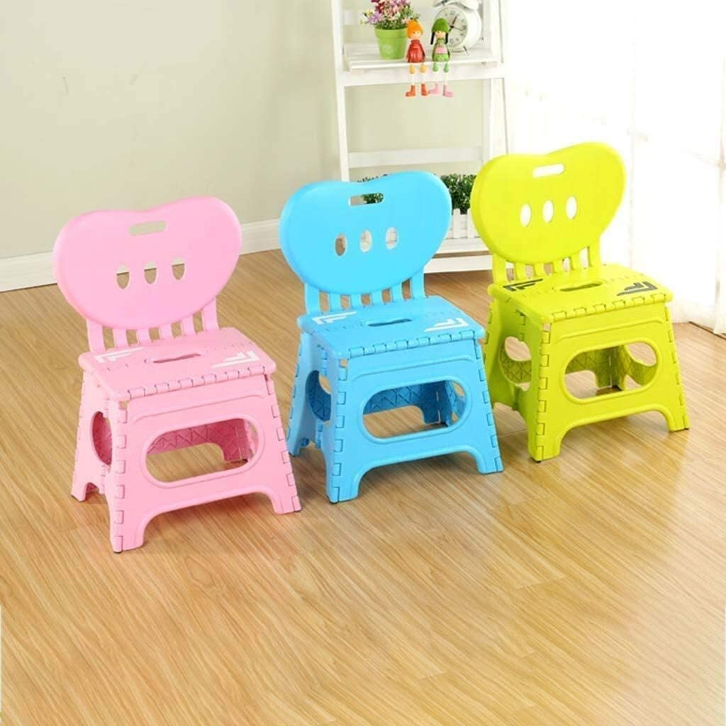 Tabouret se pliant non glissant portatif d'étape for des enfants et des adultes, tabouret pliable extérieur résistant de salle de bains de jardin de cuisine (Color : B) C