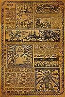 ポスター ゼルダの英雄物語伝説神話タイムラインビデオゲームゲーマー A4サイズ [インテリア 壁紙用] 絵画 アート 壁紙ポスター