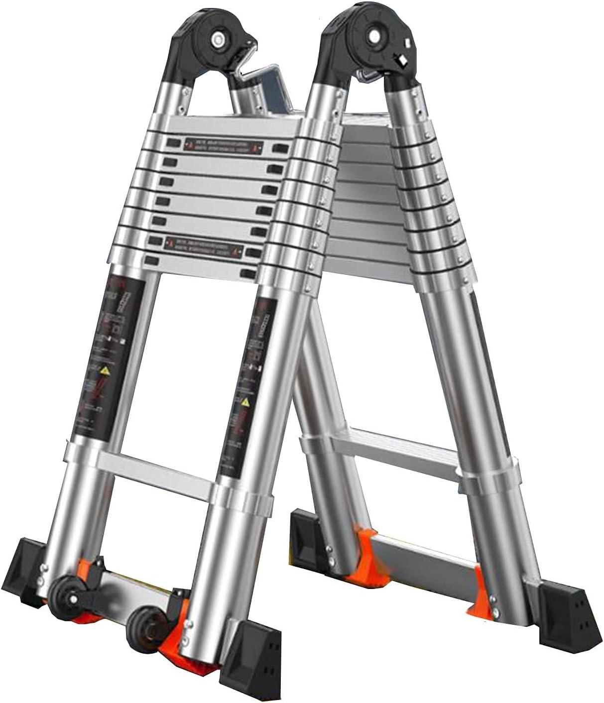 Dallas Mall Multi-Purpose Aluminum Telescopic Max 52% OFF Ladder Fo Extension Portable -