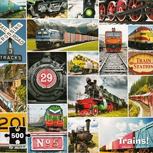 Envíos y devoluciones gratis. Trains  - 500 500 500 Piece Puzzle by Re-marks  punto de venta
