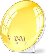 Wake Up Light Alarm Clock, Burbupps Kids Night Light Compatible with Alexa & Google Home, 7 Colored Sunrise Simulation and Sunset Fading, Dual Alarm Clock with FM Radio, USB Charge Port