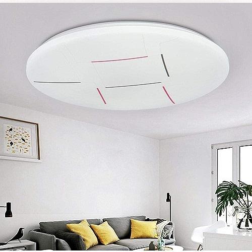 Zhouzhou666 Plafonnier LED Rond Chaud Chambre Lampe Salon Salle à Manger Couloir Couloir éclairage, Ligne Trois Couleurs, 50Cm