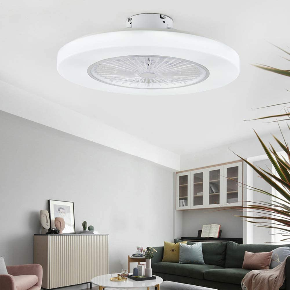 Orillon Outlet sale feature 22'' Thin Modern Ceiling Fan for Indoor with 5 popular Kitch Light