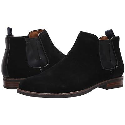 Florsheim Uptown Plain Toe Gore Boot (Black Suede/Leather) Men