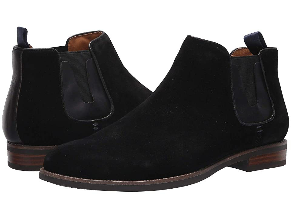 Florsheim Uptown Plain Toe Gore Boot (Black Suede/Leather) Men