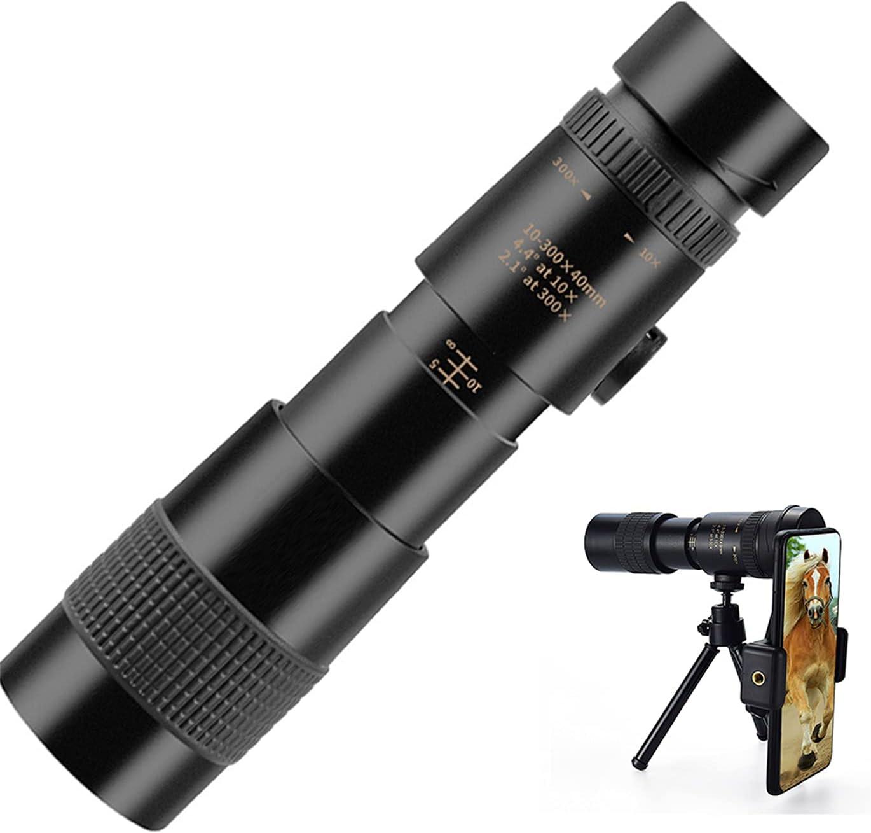 10-300x40mm 4K HD Waterproof High quality Prism online shop Telescope,BAK4 Monocular
