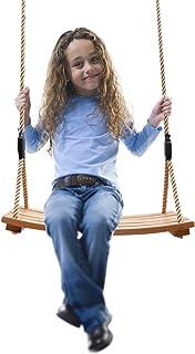 Kids Swing Wooden,Wooden seat Swing,Large Wooden Swing, Garden,Yard,Indoor,Outdoor WoodenSwingSetforChildrenAdult...