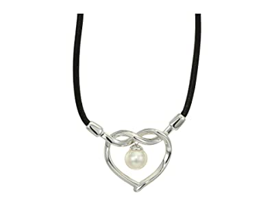 Majorica Amour Pendant Necklace (White) Necklace