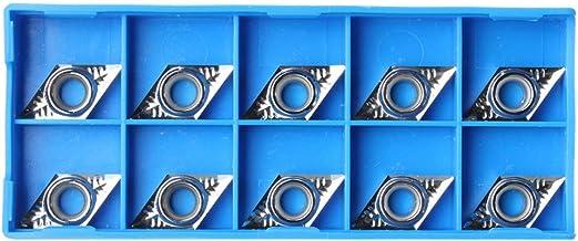 10 peças de inserção de carboneto de prata DCGT11T304-AK H01 / DCGT32.51-AK H01 para liga de alumínio
