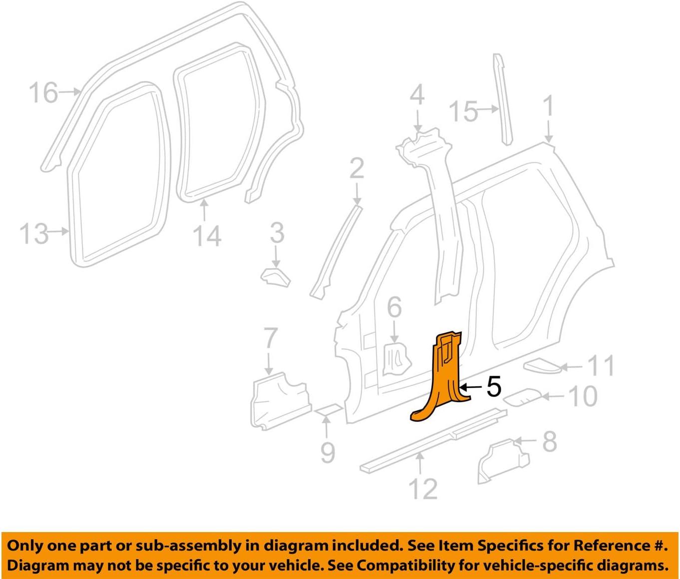 General Motors 1 year warranty Outlet sale feature F-Panel 15066534